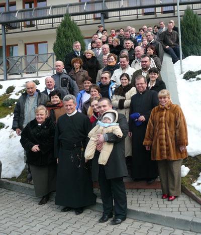 Uczestnicy rekolekcji wielkopostnych