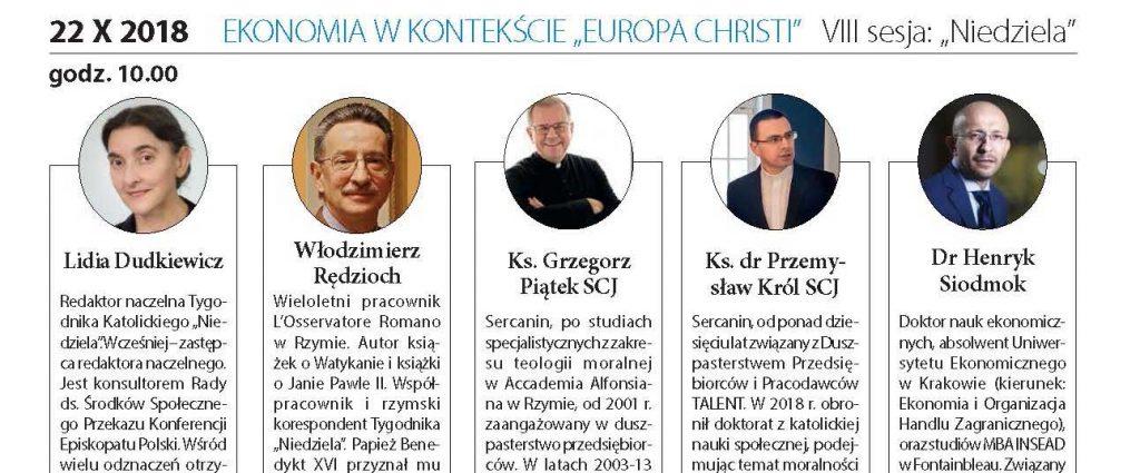 "Ekonomia wkontekście ""Europa Christi"" – konferencja"